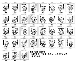 キャラクタースキットルラインナップ