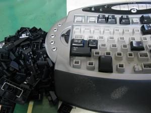 分解したキーボード