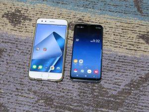 Zenfone4proとgalaxyS8